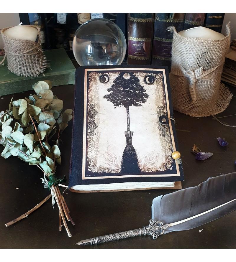 Cuaderno portada árbol-escoba
