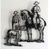 """Imagen Escultura de pared en forja """"Cacería"""""""