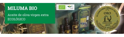 Miluma Bio. Aceite de oliva virgen extra ecológico.