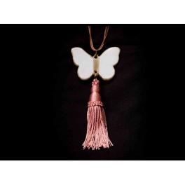 Collar mariposa borla