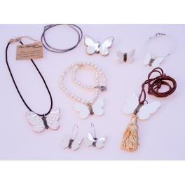 Anillo mariposa blanco