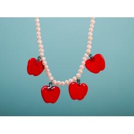 Collar Manzanas Rojo