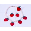 Imagen Collar Fresas Rojo
