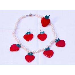 Collar Fresas Rojo