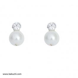 Pendientes bebé plata perla...