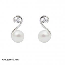 Pendientes plata perla tu y yo mujer