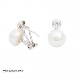 Pendientes plata mujer perlas