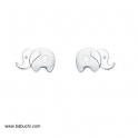 Imagen Pendientes plata ley niña elefante