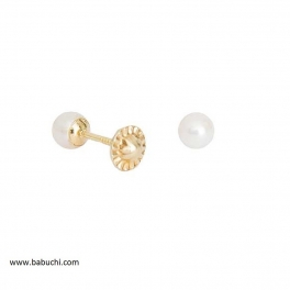 Pendientes de bebé oro y perla