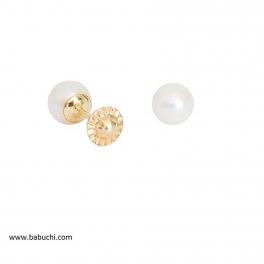 Pendientes de niña oro 18 k perla