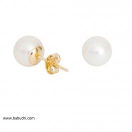 Pendientes de oro y perlas...