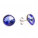 Imagen Pendientes de plata y swarovski azul grande