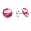 Imagen Pendientes de plata y swarovski rosa grande