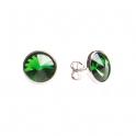 Imagen Pendientes de plata y swarovski verde pequeño