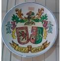 Imagen Plato con escudo heráldico