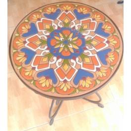 Mesa de cerámica y forja