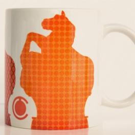 Taza Potro Cálido Naranja...