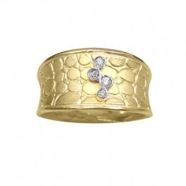 Anillo plata chapado en oro