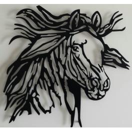 Escultura caballo desbocado