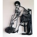 "Imagen Escultura de pared en forja ""Mujer cordobesa"""