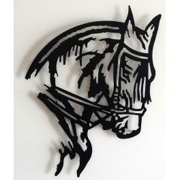 Escultura cabeza caballo
