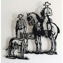 """Escultura de pared en forja """"Cacería"""""""