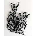 """Imagen Escultura de pared en forja """"Tablao flamenco"""""""