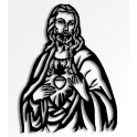"""Imagen Escultura de pared en forja """"Corazón de Jesús"""""""