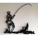 """Imagen Escultura de pared en forja. Modelo """"Pescador"""""""