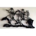 """Imagen Escultura de pared en forja """"Acoso y Derribo"""""""