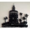"""Imagen Escultura de pared en forja """"Torre del Oro"""""""
