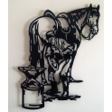 """Imagen Escultura de pared en forja """"Herrador"""""""