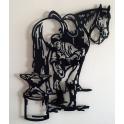 "Imagen Escultura de pared en forja. Modelo ""Pastor alemán"""