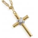 Imagen Cruz con cadena de oro para niño