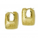 Imagen Pendientes aros de oro Cuadrado