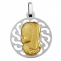 Imagen Medalla comunión  virgen niña plata