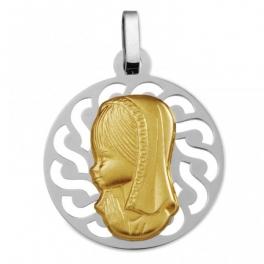 Medalla comunión  virgen...