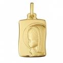 Imagen Medallas virgen niña comunión plata
