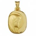 Imagen Medalla virgen niña comunión plata