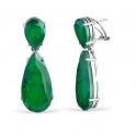 Imagen Pendiente cuarzo verde plata rodiada