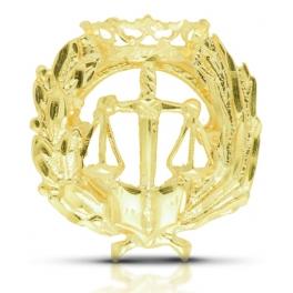 Insignia Derecho en oro de...