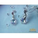 Imagen Pendientes creados con Crystales Swarovski® de plata rodiada