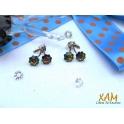 Imagen Pendientes plata con baño de rodio y Crystales de Swarovski®