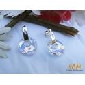 Imagen Ideales pendientes de aro en plata creados con Crystales de Swarovski®