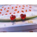 Imagen Pendientes fabricados en plata de ley con baño de rodio, creados con Crystal de Swarovski®