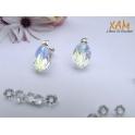 Imagen Pendientes plata con baño de rodio creados con Crystal de Swarovski®