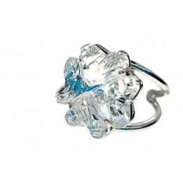 Anillo cristal plata Trébol creado con Crystales de Swarovski®
