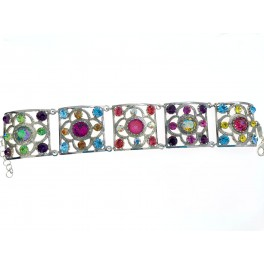 Pulsera bonita plata Lovely creada con Crystales de Swarovski®