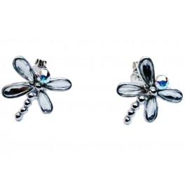 Pendientes libélulas plata...