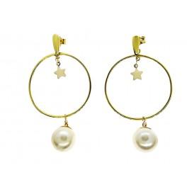 Aros plata Yellow con perla...